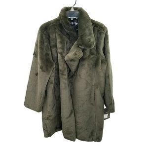 Badgley Mischka Jackets & Coats - Badgley Mischka Faux Fur Teddy Trench Jacket